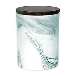 Artisanal Kitchen Supply® 50 oz. Marbleized Canister in Teal/White