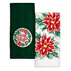 """Winter Wonderland 2-Pack """"Merry and Bright"""" Kitchen Towels"""