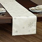 Falling Snow 72-Inch Table Runner in Silver
