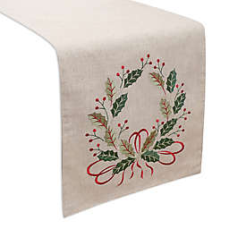 Holiday Wreath Table Runner