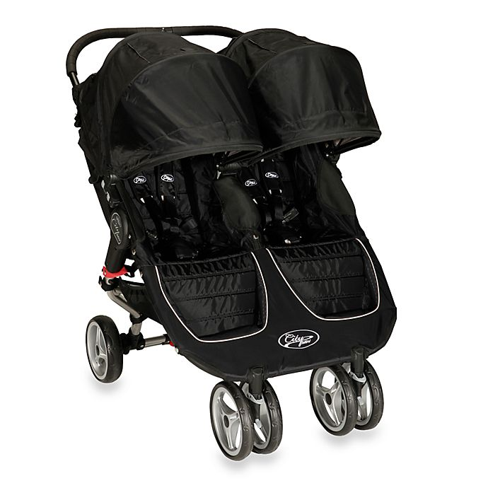Baby Jogger® City Mini Double Stroller in Black | buybuy BABY