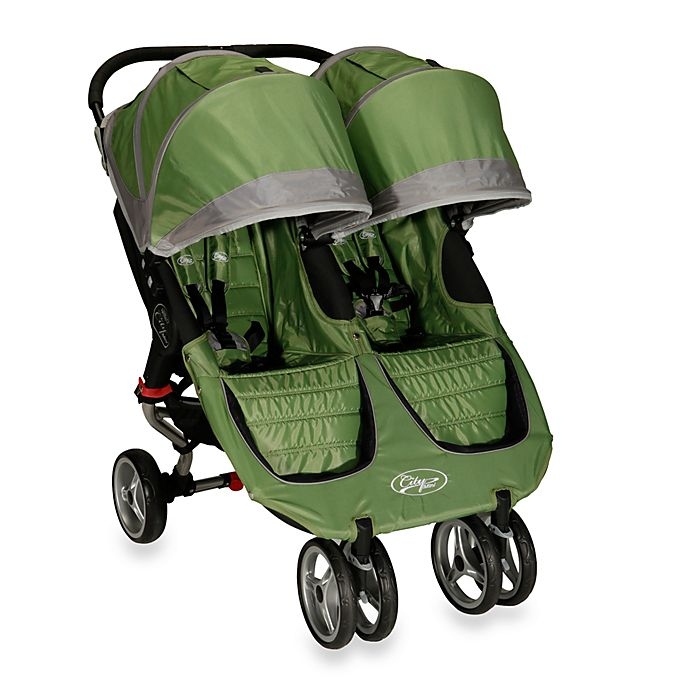 Baby Jogger™ City Mini Double Stroller in Green/Gray ...