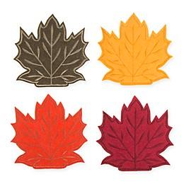 Maple Leaf Decorative Utensil Holders (Set of 4)