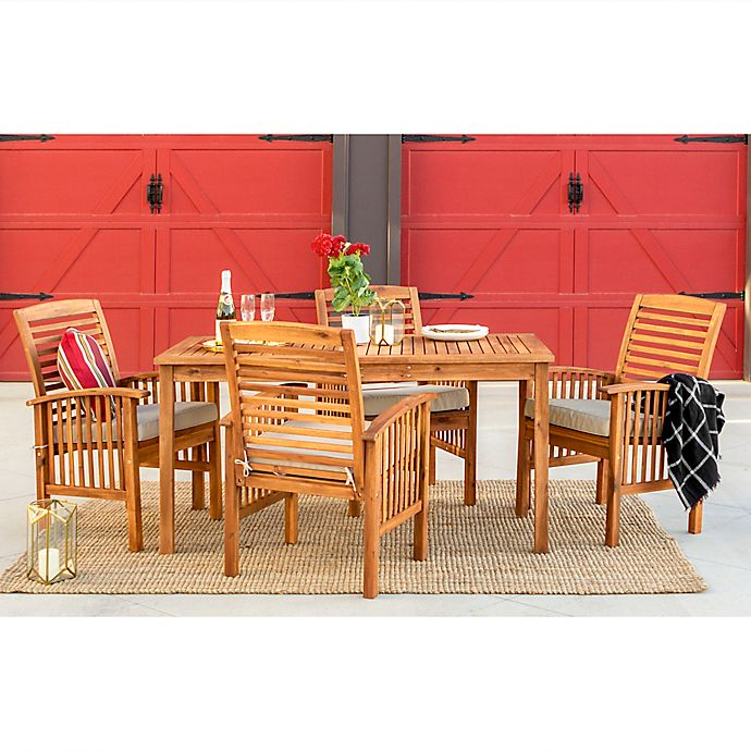 Alternate image 1 for Forest Gate Arvada 5-Piece Acacia Wood Outdoor Dining Set