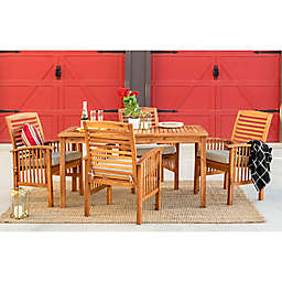 Forest Gate 5-Piece Acacia Wood Outdoor Dining Set