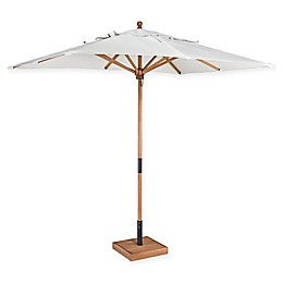 Home Styles Bali Hai 9-Foot Rectangular Market Umbrella and Base