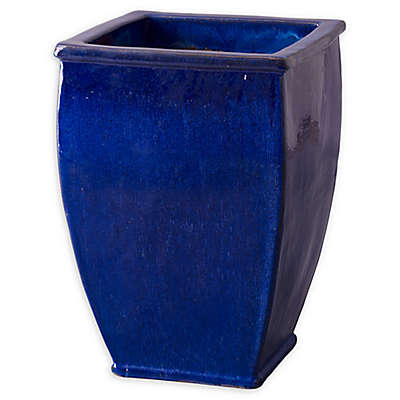 Emissary Square Large Planter in Blue