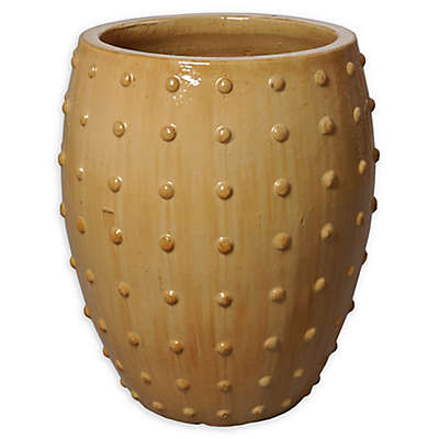 Emissary Round Studded Planter in Cappuccino