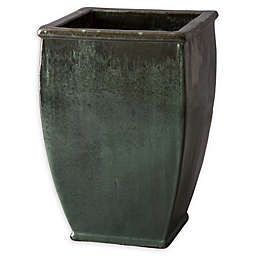 Emissary Square Planter in Green