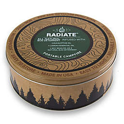 Radiate Outdoor Supply Portable Campfire with Eucalyptus Bug Repellant