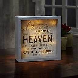 Heaven In Our Home LED Light Shadow Box