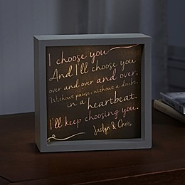I Choose You LED Light Shadow Box
