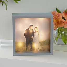 Wedding Photo LED Light Shadow Box