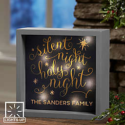 Silent Night LED Light Shadow Box
