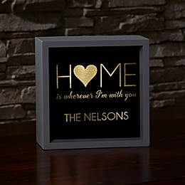 Home With You LED Light Shadow Box