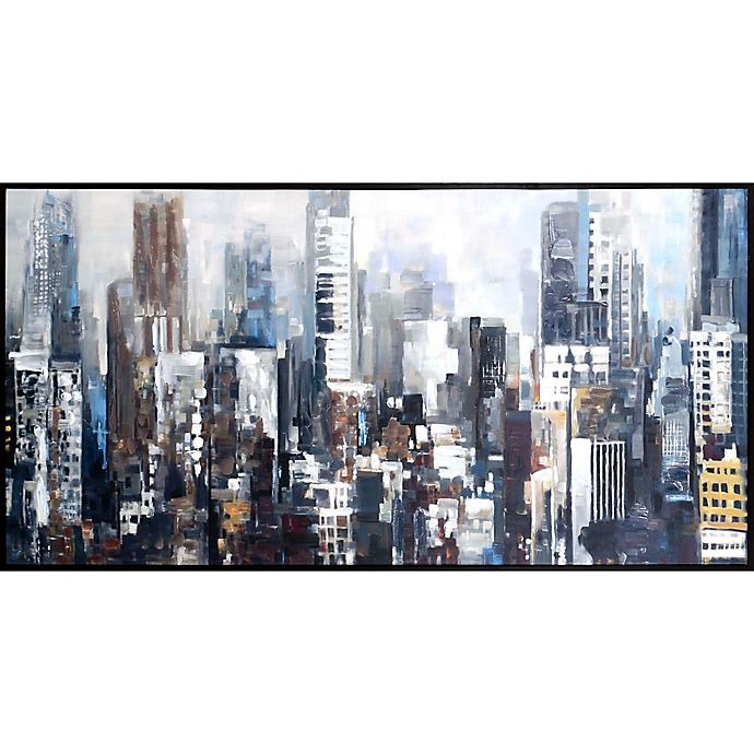 Alternate image 1 for Art City Silhouettes 30.5-Inch x 59.75-Inch Canvas Wall Art