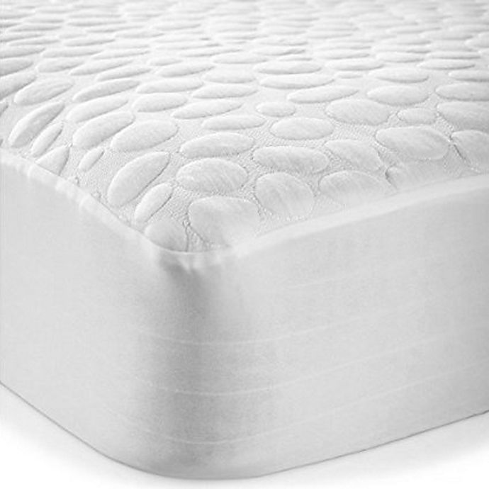 Alternate image 1 for Pebbletex Cotton Twin Mattress Protector in White