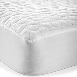 Pebbletex Cotton Mattress Protector in White