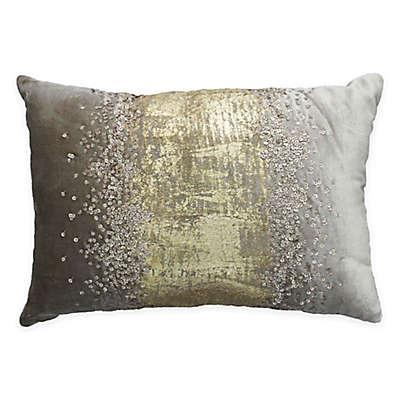 Cloud9 Design Rain Sequin Throw Pillow in Gold