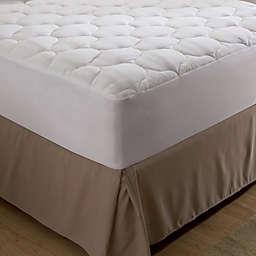 Bedding Essentials™ Microfiber Queen Mattress Pad in White