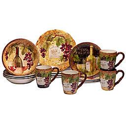 Certified International Gilded Wine 16-Piece Dinnerware Set