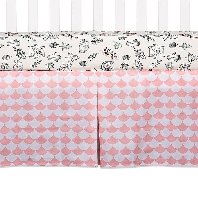 Alternate image 1 for Lolli Living™ Kayden Scallop Crib Skirt in Pink