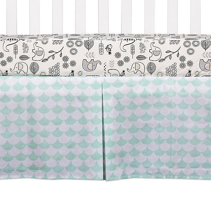 Alternate image 1 for Lolli Living™ Kayden Scallop Crib Skirt in Green