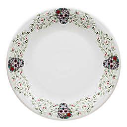 Fiesta® Halloween Sugar Skull Chop Plate in White with Floral Vine Border