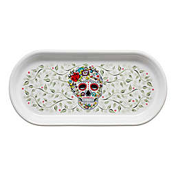 Fiesta® Halloween Sugar Skull Bread Tray in White
