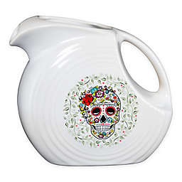 Fiesta® Halloween Sugar Skull Large Disk Pitcher in White