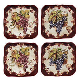 Certified International Vintners Journal by Tre Sorelle Studios Canape Plates (Set of 4)