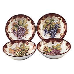 Certified International Vintners Journal by Tre Sorelle Studios Soup Bowls (Set of 4)
