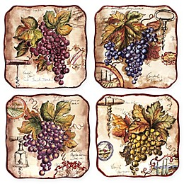 Certified International Vintners Journal by Tre Sorelle Studios Salad Plates (Set of 4)