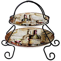 Certified International Vintners Journal by Tre Sorelle Studios 2-Tier Server with Stand