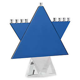 Oleg Cassini Star Menorah in Blue