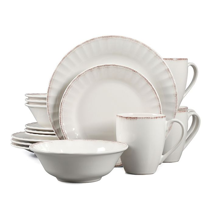 Alternate image 1 for Country Loft Carly 16-Piece Dinnerware Set in White