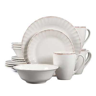 Country Loft Carly 16-Piece Dinnerware Set in White