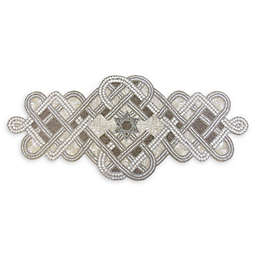 Hanukkah 36-Inch Beaded Table Runner in Silver
