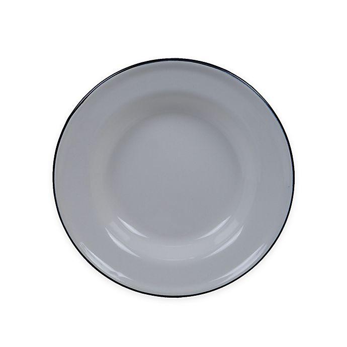 Alternate image 1 for Certified International Enamelware 8-Inch Salad Plates in Cream (Set of 6)