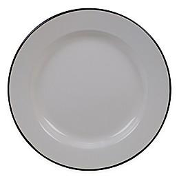 Certified International Enamelware Dinner Plates in Cream (Set of 6)