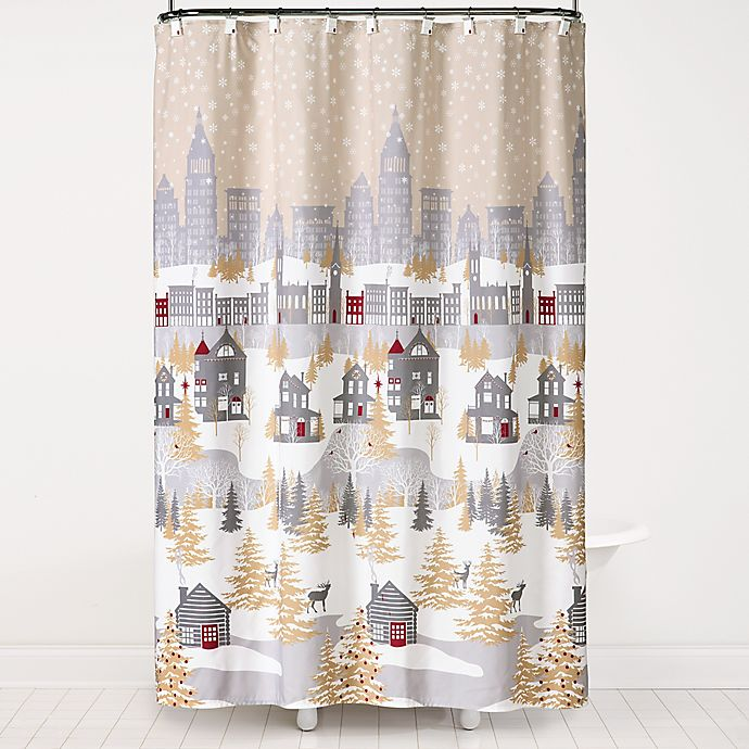 Peanuts Holiday 70 Inch X 72 Shower Curtain With Hooks