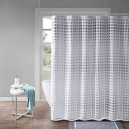 Madison Park Essentials Venus Faux Silk Laser Cut Shower Curtain
