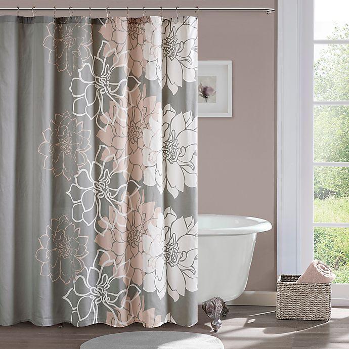 Madison Park Lola Shower Curtain In Blush Bed Bath Amp Beyond
