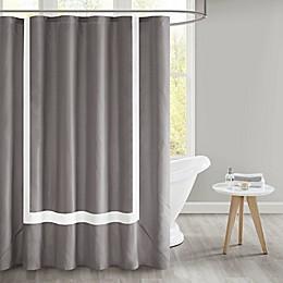 510 Design Carroll Shower Curtain in Grey