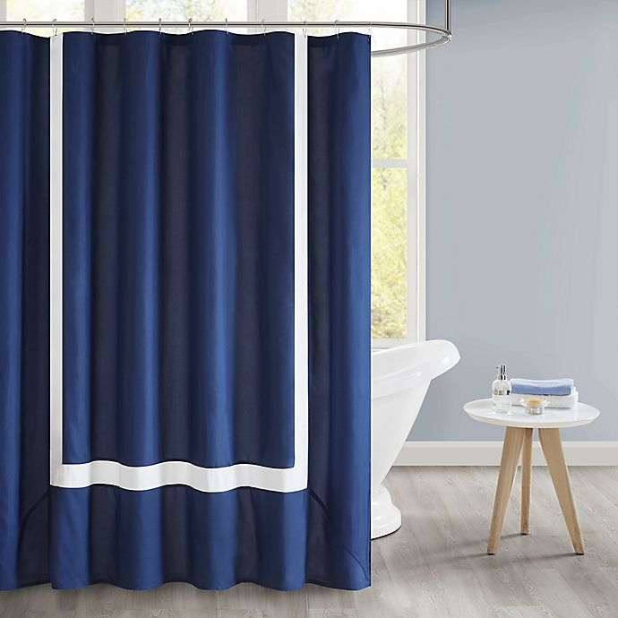 Alternate image 1 for 510 Design Carroll Pieced Border Shower Curtain with Liner