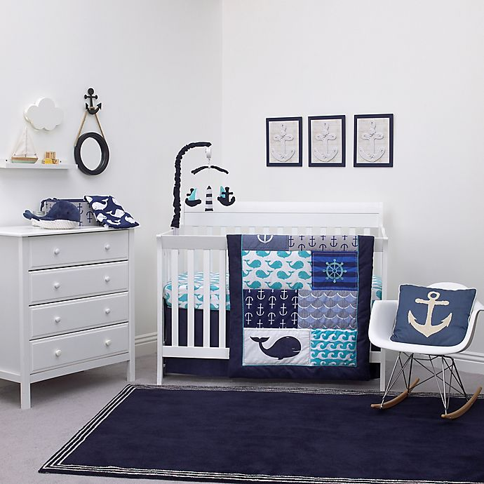 Alternate image 1 for Nautica Kids® Set Sail 4-Piece Crib Bedding Set