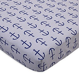 Nautica Kids® Set Sail Anchor Print Fitted Crib Sheet