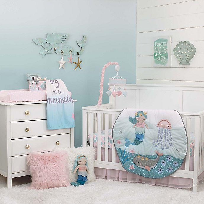 Alternate image 1 for NoJo® Sugar Reef Mermaid 4-Piece Crib Bedding Set