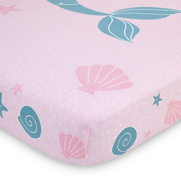 Nojo 174 Sugar Reef Mermaid Fitted Crib Sheet Bed Bath Amp Beyond