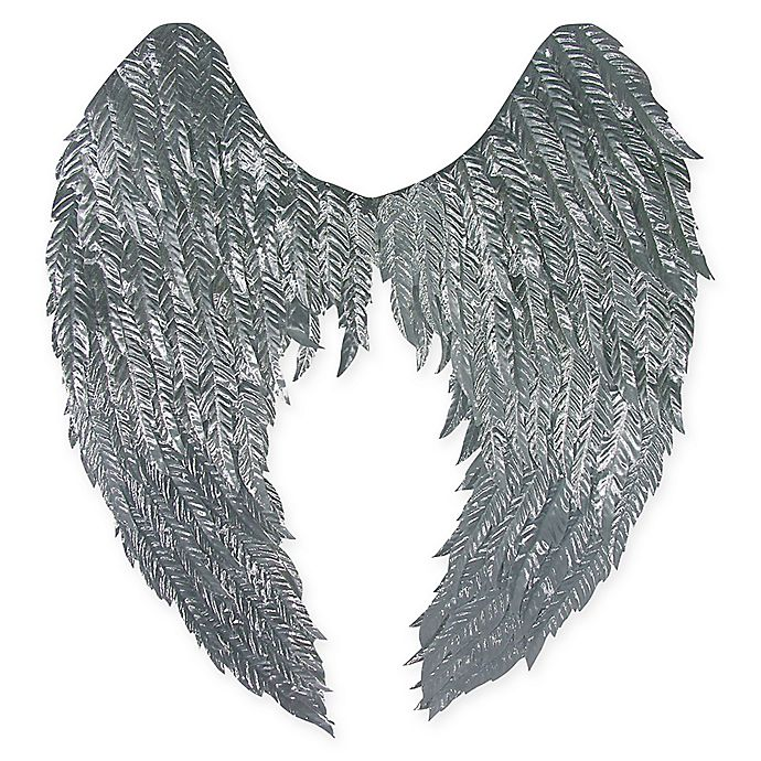 Alternate image 1 for 36-Inch Adult Halloween Angel Wings in Silver